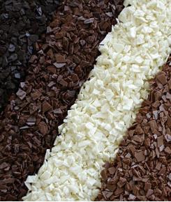 Осколки шоколадные черные и белые
